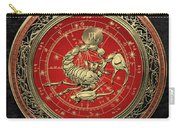 Western Zodiac - Golden Scorpio - The Scorpion On Black Velvet Carry-all Pouch