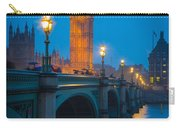 Westminster Bridge At Night Carry-all Pouch by Inge Johnsson