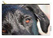 Wet Black Lab Carry-all Pouch