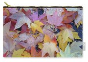 Wet Fall Leaves Carry-all Pouch
