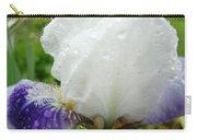 Wet Flower Raindrops Art Iris Flower Spring Baslee Troutman Carry-all Pouch