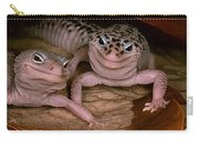 We've Got A Secret - Smiling Leopard Geckos Carry-all Pouch