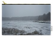 Weymouth Back River In A Snow Storm Carry-all Pouch
