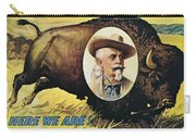 W.f.cody Poster, 1908 Carry-all Pouch