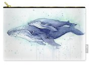 Whales Humpback Watercolor Mom And Baby Carry-all Pouch