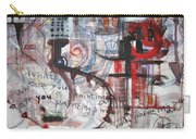 What Are You Painting-red And Brown Painting Carry-all Pouch