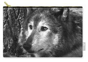 What Is A Wolf Thinking Carry-all Pouch