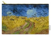 Wheat Field With Crows At Wheat Fields Van Gogh Series, By Vincent Van Gogh Carry-all Pouch