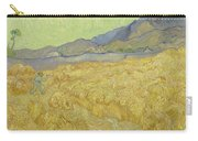 Wheat Field With Reaper At Wheat Fields Van Gogh Series, By Vincent Van Gogh Carry-all Pouch