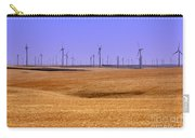 Wheat Fields And Wind Turbines Carry-all Pouch