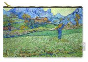 Wheat Fields In A Mountainous Landscape, By Vincent Van Gogh, 18 Carry-all Pouch