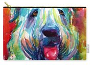 Wheaten Terrier Dog Portrait Carry-all Pouch