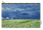 Wheatfield Under Thunderclouds At Wheat Fields Van Gogh Series, By Vincent Van Gogh Carry-all Pouch