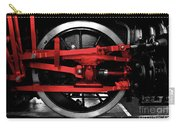 Wheel Of Red Steel Carry-all Pouch
