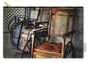 Wheelchairs Of Yesteryear By Kaye Menner Carry-all Pouch
