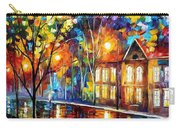 When The City Sleeps 2 - Palette Knife Oil Painting On Canvas By Leonid Afremov Carry-all Pouch