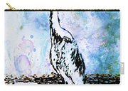 Whimsical Heron Art Carry-all Pouch