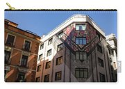 Whimsical Madrid - A Building Draped In Traditional Spanish Mantilla Carry-all Pouch