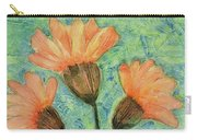Whimsical Orange Flowers - Carry-all Pouch