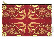Whimsical Organic Pattern In Yellow And Red I Carry-all Pouch