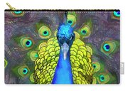 Whimsical Peacock Carry-all Pouch