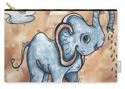 Whimsical Pop Art Childrens Nursery Original Elephant Painting Adorable By Madart Carry-all Pouch