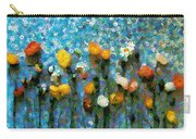 Whimsical Poppies On The Blue Wall Carry-all Pouch