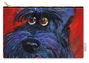 whimsical Schnauzer dog painting Carry-all Pouch