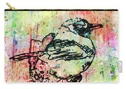 Whimsical Tit Bird Carry-all Pouch