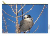 Whiskey Jack Perched On A Winter Larch  Carry-all Pouch