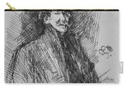 Whistler, Self-portrait.  Carry-all Pouch