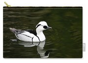 White And Black Duck Carry-all Pouch