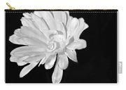 White And Black Flower Painting Carry-all Pouch