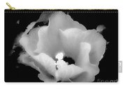 White And Black Hibiscus Flower Carry-all Pouch