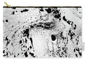 White And Black  Carry-all Pouch