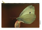 White And Green Butterfly On Dried Flowers Carry-all Pouch