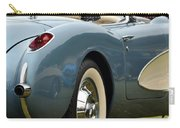White And Light Blue Corvette Carry-all Pouch