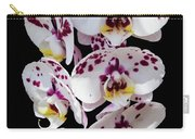 White And Magenta Orchids Carry-all Pouch