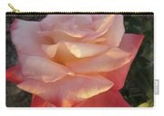 White And Peach Carry-all Pouch