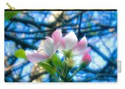 White And Pink Apple Blossoms Against A Blue Sky Carry-all Pouch