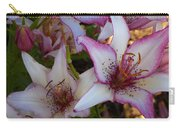 White And Pink Lilies Carry-all Pouch