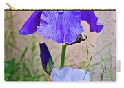 White And Purple Irises At Pilgrim Place In Claremont-california- Carry-all Pouch