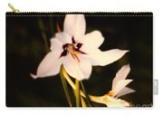 White And Purple Lily Carry-all Pouch