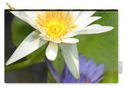 White And Purple Lotus Flowers At Golden Mount Carry-all Pouch