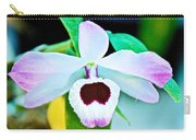 White And Purple Orchid In Greenhouse At Pilgrim Place In Claremont-california Carry-all Pouch