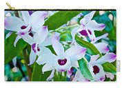 White And Purple Orchids In Greenhouse At Pilgrim Place In Claremont-california Carry-all Pouch