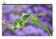 White And Purple Spring 2 Carry-all Pouch