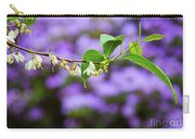 White And Purple Spring Carry-all Pouch