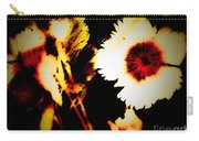 White And Red Dianthus Carry-all Pouch