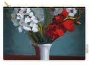 White And Red Gladioli Carry-all Pouch